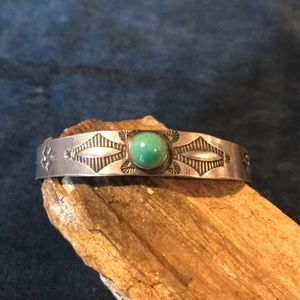 Jewelry - Old Pawn Sterling Silver and Turquoise Cuff